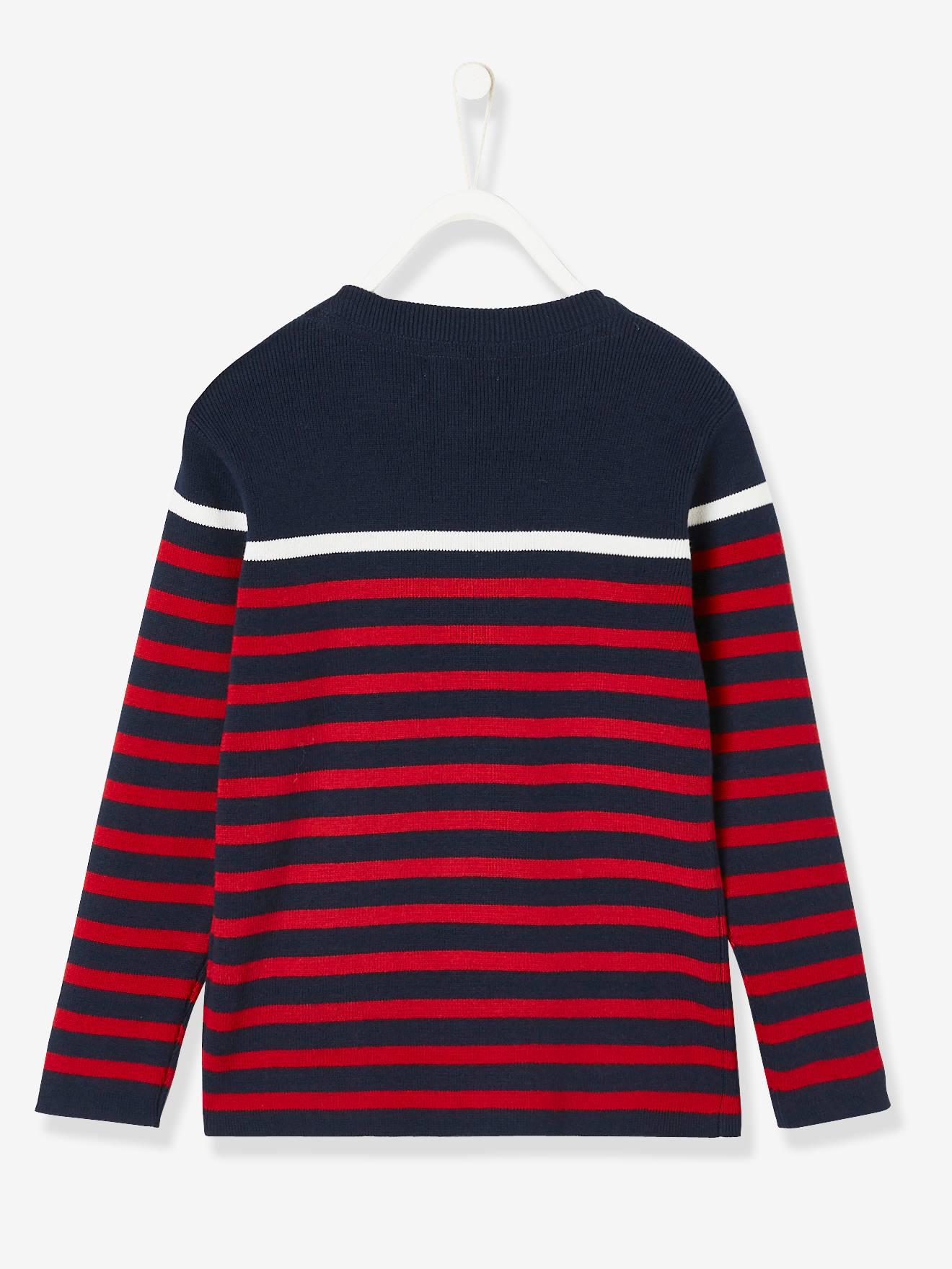 2066b2ddbda Striped Jumper for Boys - blue dark striped, Boys | Vertbaudet