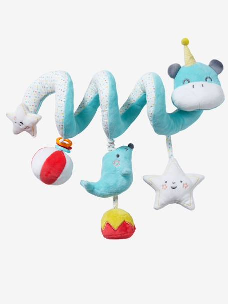 Hippopotamus Activity Spiral BLUE MEDIUM SOLID WITH DESIGN