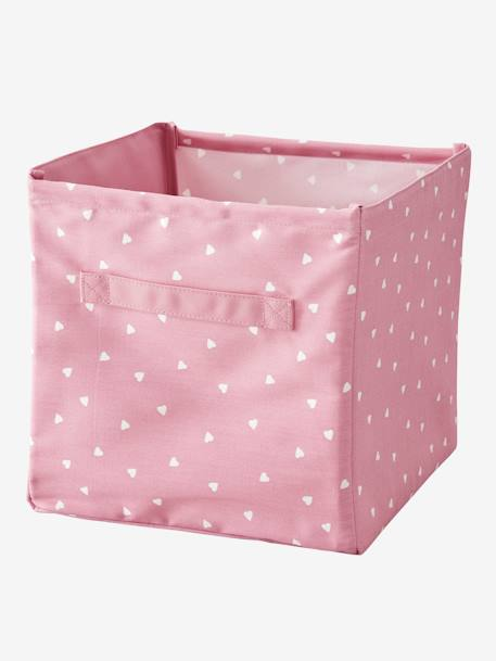 Large Fabric Storage Box BLUE DARK SOLID+GREY LIGHT SOLID+PINK LIGHT SOLID+YELLOW MEDIUM SOLID