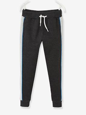Click to view product details and reviews for Joggers With Panels On The Sides For Boys Blue Dark Solid With Design.