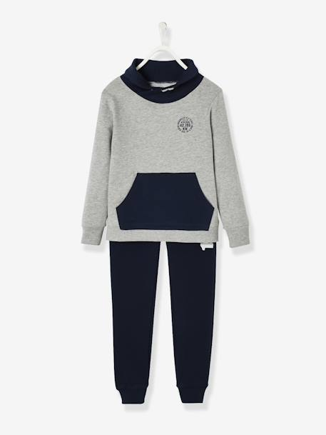 Sports Combo: Sweatshirt & Joggers, for Boys GREY LIGHT MIXED COLOR