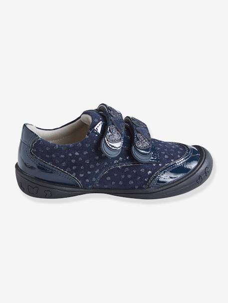 Leather Derby Shoes, for Girls, Designed for Autonomy BLUE DARK SOLID
