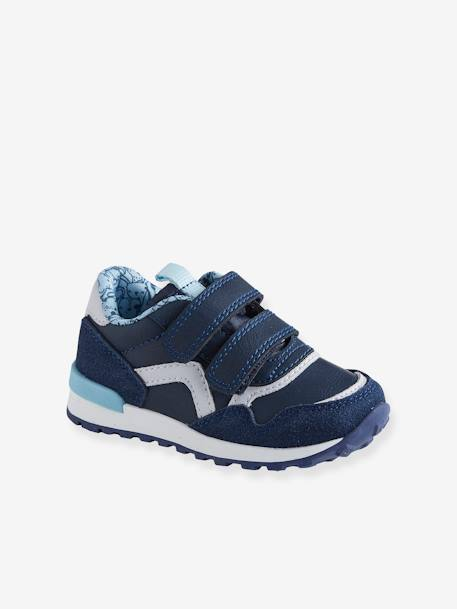 Touch-Fastening Trainers for Baby Boys, Runner-Style BLUE DARK SOLID+BLUE MEDIUM SOLID WITH DESIGN+GREY DARK SOLID WITH DESIGN+GREY MEDIUM SOLID WITH DESIGN