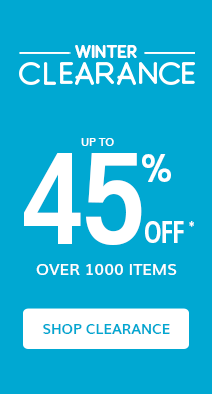 winter Clearance up to 45% off* over 1000 items