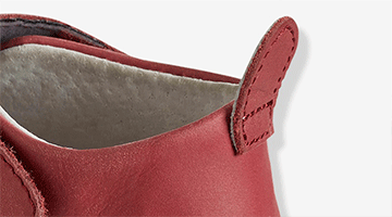 Pull tab at heel to make them easier to slip on.